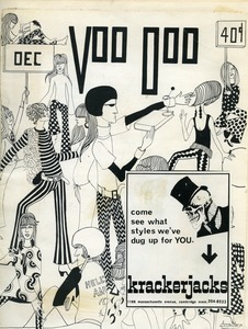 Cover of Voo Doo magazine with pasted Krackerjacks ad