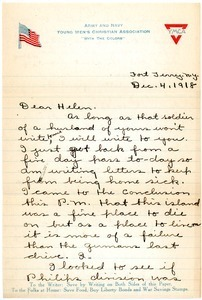 Letter from Gus Newman to Helen J. Kendrick