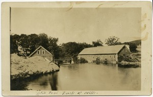 Mill pond, back of mills