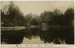 Mill pond and ice house