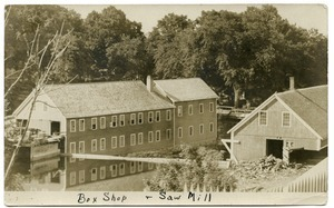 Box shop and saw mill