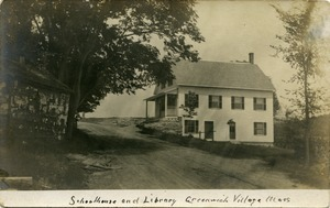 Schoolhouse and library, Greenwich Village, Mass.