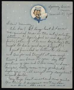 Letter from Harold D. Langland to Norma Langland