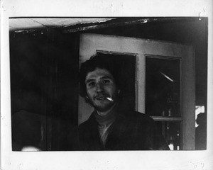 Albert Maioletesti, smoking a cigarette, Montague Farm Commune