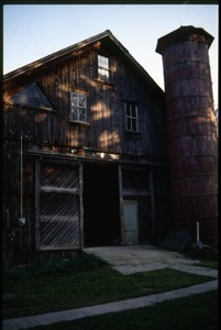 Barn and silo, Montague Farm Commune