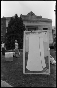 Antinuclear protest on Greenfield town common, opposing the plan to build a reactor in the town of Montague