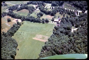 Aerial view of Montague Farm commune