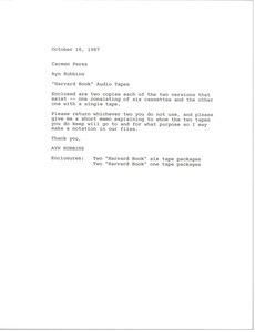 Fax from Ayn Robbins to Carmen Perez