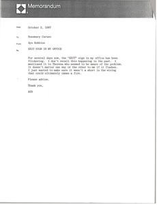 Fax from Ayn Robbins to Rosemary Caruso