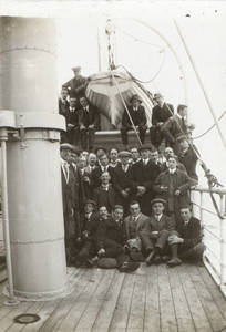 Group on the SS Rievaulx Abbey (c. 1911)