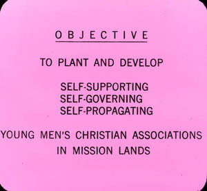 Y.M.C.A. Objective