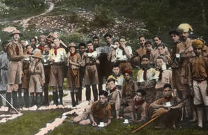 Scouts at Tea (India)