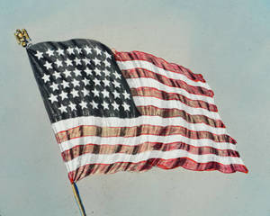 American Flag with 45 Stars