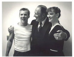 Art Linkletter and Students at the Dedication of the Fuller Arts Center at Springfield College, 1984