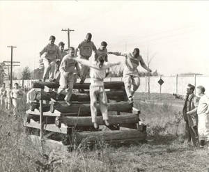 Log Stack on Commando Course (c. 1943)