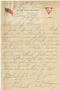 Letter from Schultz to Cheney (February 21, 1918)