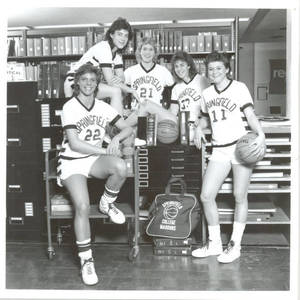 Women's Basketball in the Library (1980s)