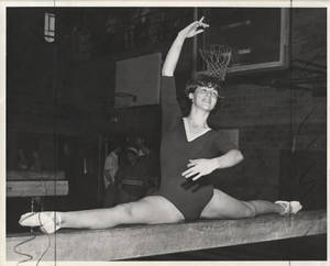 Karen Livley on Balance Beam (1967)