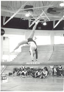 Backflip on Balance Beam