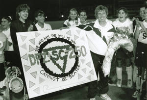 Coach Dottie Zenaty Celebrating the 250th Win (1996)