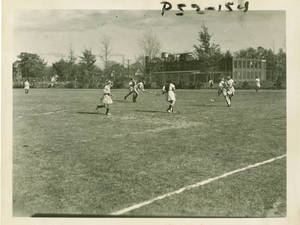 Students Playing Intramural Field Hockey Games at Springfield College in the 1950s