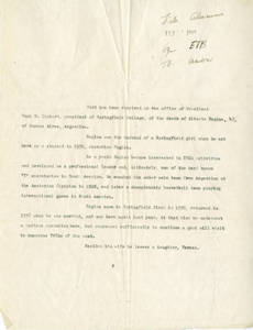 Notice of Alberto Regina's Death (February 10, 1948)