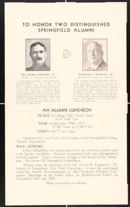 Alumni Luncheon Invitation (December 1931)