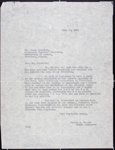 Letter to Naismith from Draper (June 24, 1931)