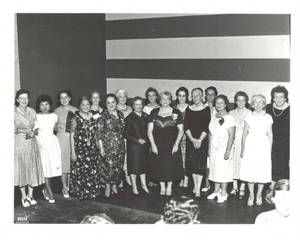 Eugenie Dozier with Group