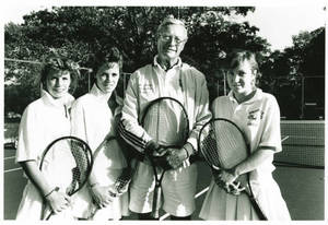 Coach Cox with Women's Tennis Players (1990)