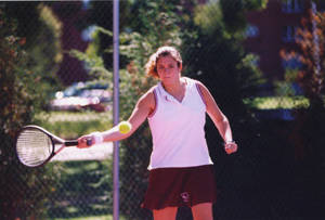 Janell Haggerty Playing Tennis (2000)