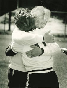 Diane Potter Hugging Terri Schenk (May 4, 1985)