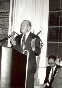 Dr. Kidess Speaking at International Center 25th Anniversary (1990)