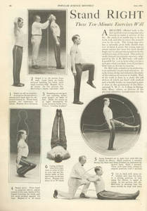 Stand Right and Be Healthy (July 1926)