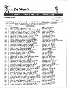 Football and basketball forecasts