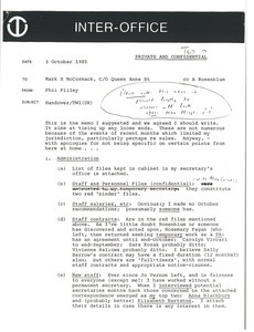 Memorandum from Phil Pilley to Mark H. McCormack