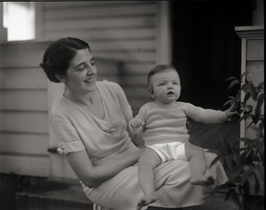 Lillian (Mrs. Edward J.) Ryan and infant daughter