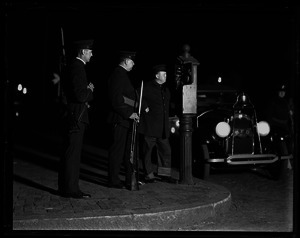 Armed police on the night of the execution of Sacco and Vanzetti