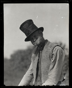 Reuben Austin Snow, the cross-dressing hermit of Cape Cod, in top hat