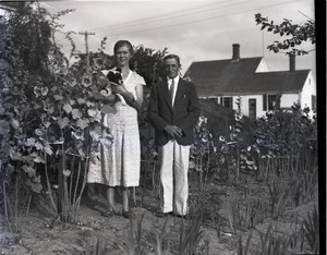 Horace Snow, wife, and dog