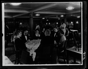 Dining room on the St. John steamship