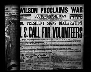 Headline: President signs declaration / U.S. call for volunteers