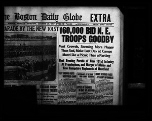 Headline: 160,000 bid N.E. troops goodbye