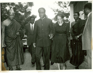 Shirley Graham Du Bois and Kwame Nkrumah at the state funeral for W. E. B. Du Bois