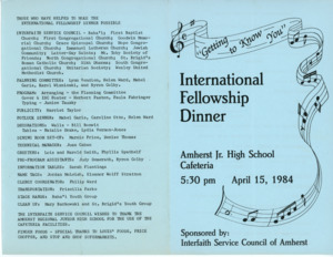 International Fellowship Dinner program