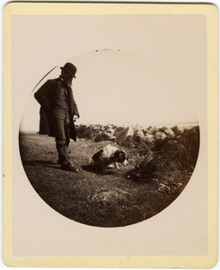 Albert Henry Blanchard and dog