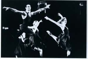Lust: Richard Jones (at front) with three dancers