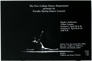 Faculty Spring Dance Concert: photograph of concert program