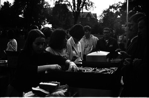 Food at picnic outside Student Union