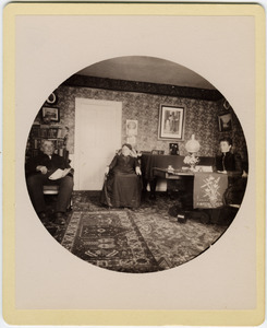 Hammond Brown with wife Mary, and daughter Annie Elizabeth, in their parlor